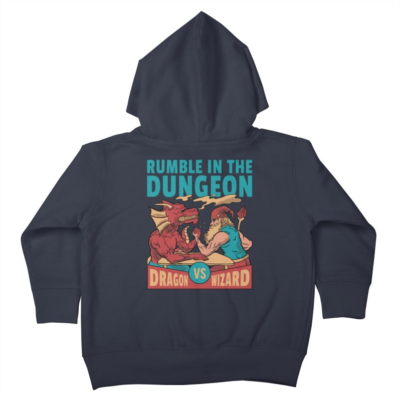 Dragon Arm Wrestling Wizard Kids Toddler Zip-Up Hoody by Toxic Onion - Weird and Funny Stuff