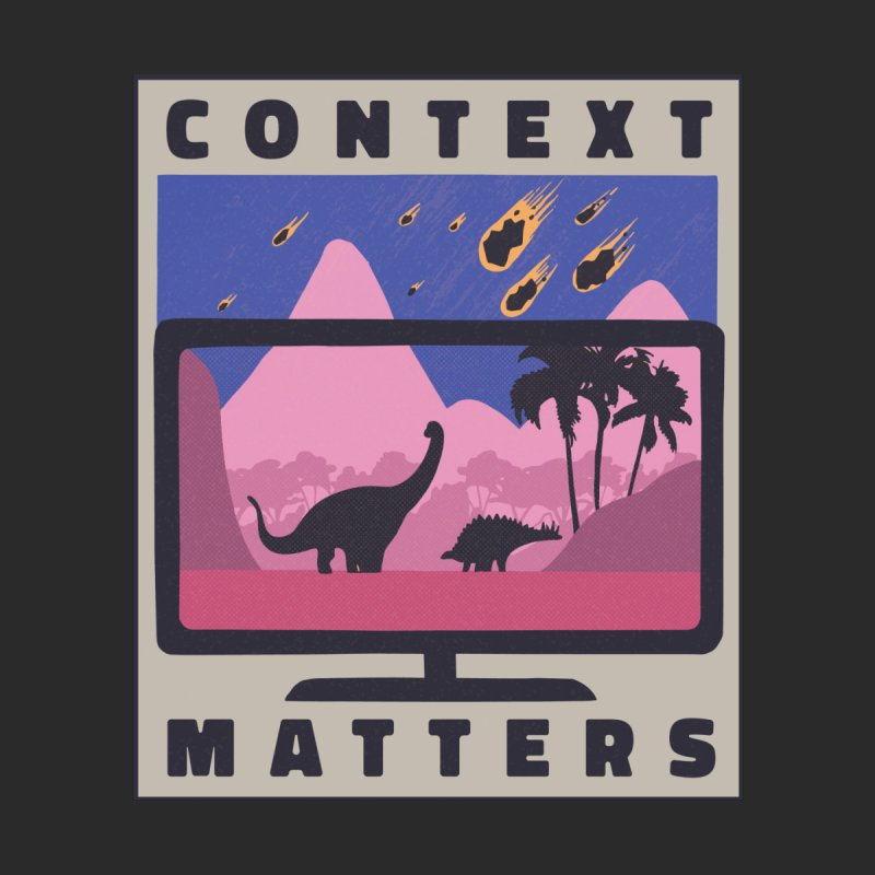Context Matters Home Decor Mounted Aluminum Print by Toxic Onion - A Popular Ventures Company