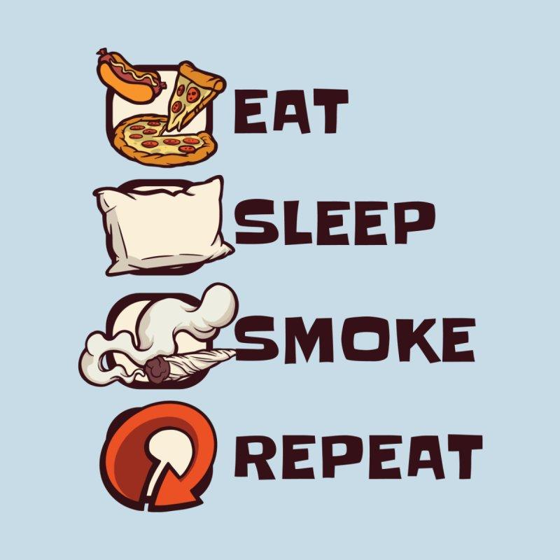 Eat Sleep Smoke Repeat Home Decor Mounted Aluminum Print by Toxic Onion - A Popular Ventures Company