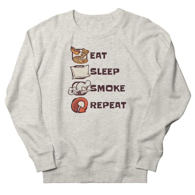 Eat Sleep Smoke Repeat Men's Sweatshirt by Toxic Onion - A Popular Ventures Company