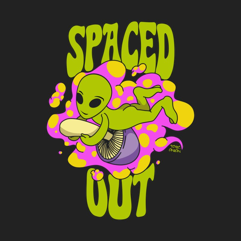 Spaced Out Mushroom Riding Alien Men's T-Shirt by Toxic Onion - Weird and Funny Stuff