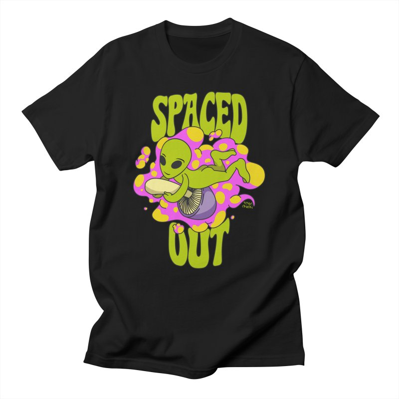 Spaced Out Mushroom Riding Alien Men's T-Shirt by Toxic Onion - A Popular Ventures Company