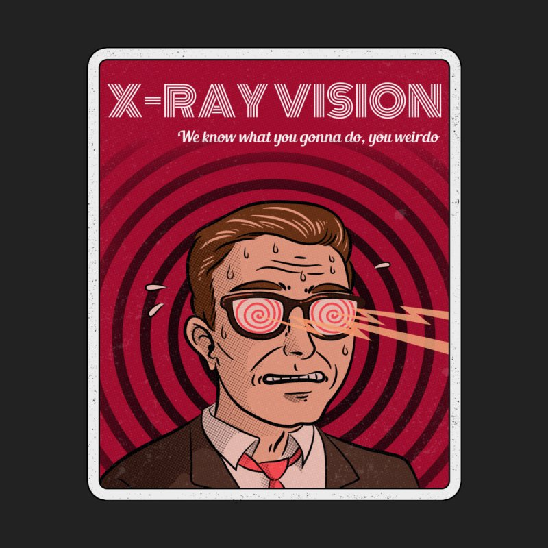 X-Ray Vision Home Decor Mounted Aluminum Print by Toxic Onion - A Popular Ventures Company