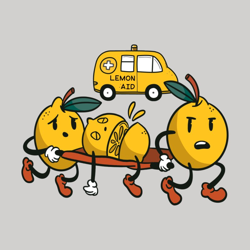 Lemon Aid Men's T-Shirt by Toxic Onion - Weird and Funny Stuff