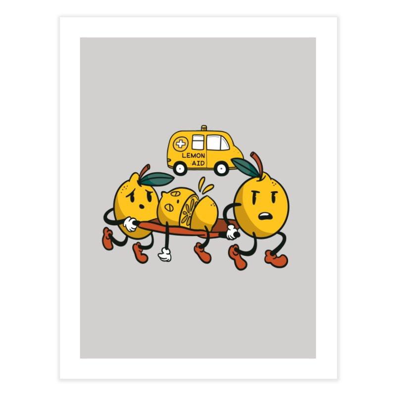 Lemon Aid Home Decor Fine Art Print by Toxic Onion - Weird and Funny Stuff
