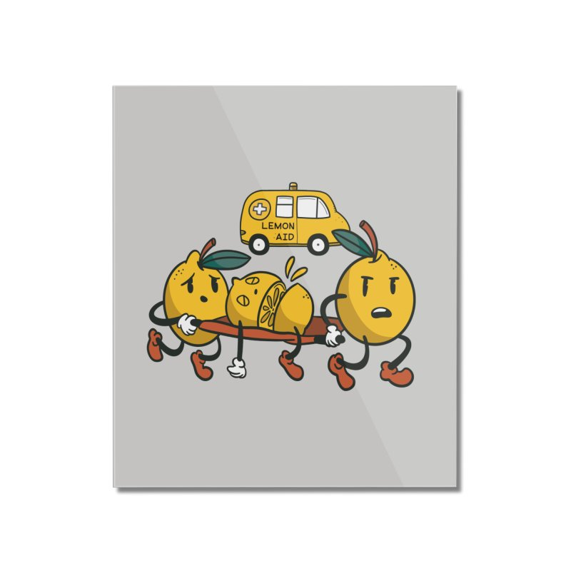 Lemon Aid Home Decor Mounted Acrylic Print by Toxic Onion - Weird and Funny Stuff