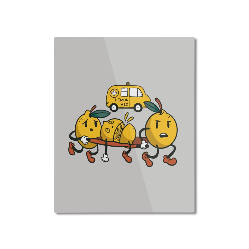 Lemon Aid Home Decor Mounted Aluminum Print by Toxic Onion - Weird and Funny Stuff