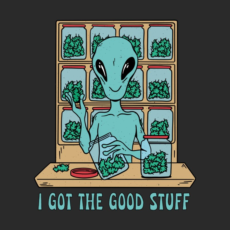 Alien Cannabis Budtender Home Decor Mounted Aluminum Print by Toxic Onion - A Popular Ventures Company