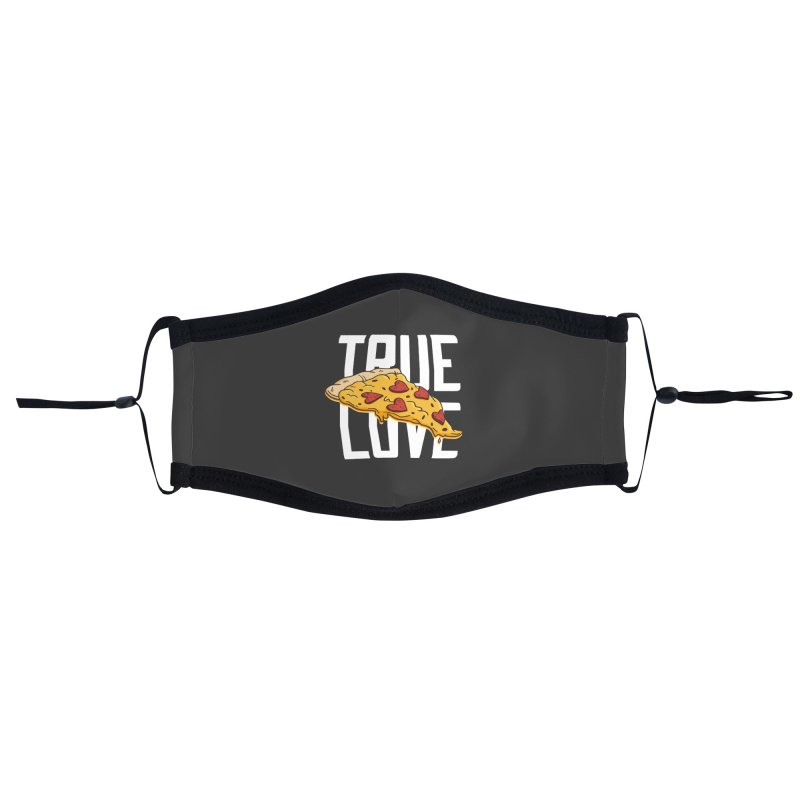 True Love Pizza Accessories Face Mask by Toxic Onion - Weird and Funny Stuff