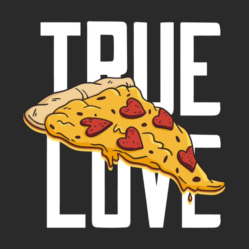 True Love Pizza Men's T-Shirt by Toxic Onion - Weird and Funny Stuff
