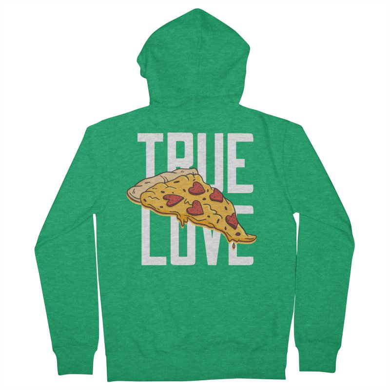 True Love Pizza Men's Zip-Up Hoody by Toxic Onion - Weird and Funny Stuff