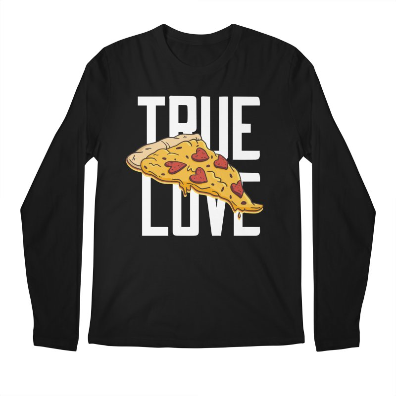 True Love Pizza Men's Longsleeve T-Shirt by Toxic Onion - Weird and Funny Stuff