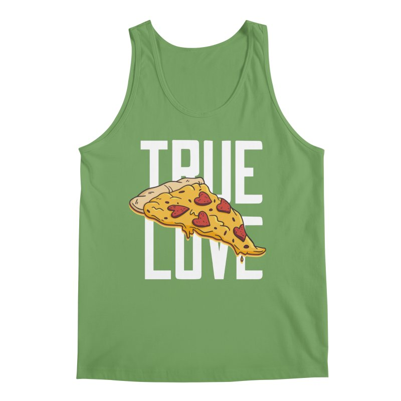 True Love Pizza Men's Tank by Toxic Onion - Weird and Funny Stuff