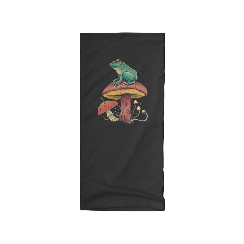 Frog Sitting Atop Mushroom Accessories Neck Gaiter by Toxic Onion - Weird and Funny Stuff