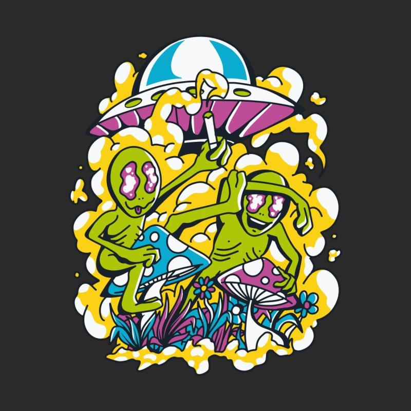 Magic Mushroom Hunting Aliens Men's T-Shirt by Toxic Onion - A Popular Ventures Company