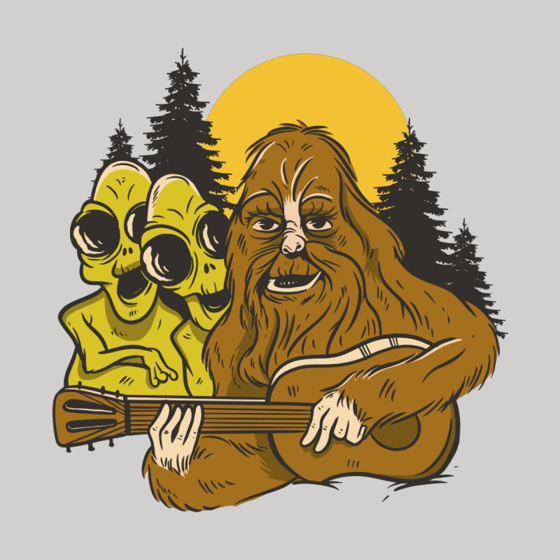 Bigfoot And The Aliens Men's T-Shirt by Toxic Onion - Weird and Funny Stuff