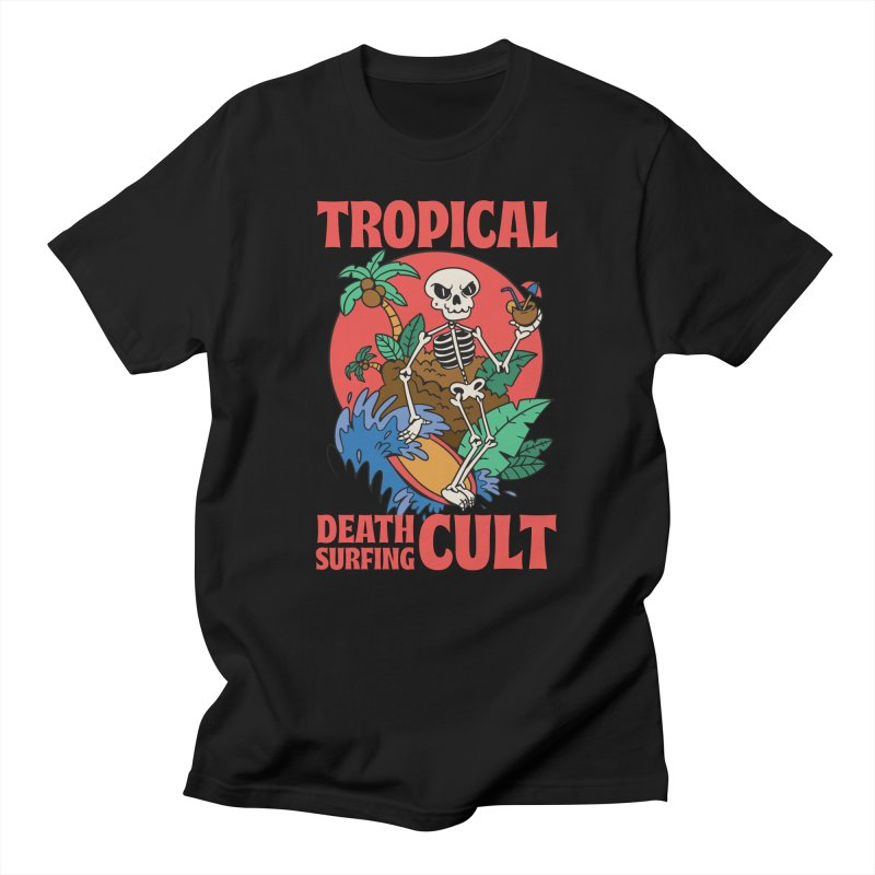 Tropical Death Surfing Cult Men's T-Shirt by Toxic Onion - Weird and Funny Stuff