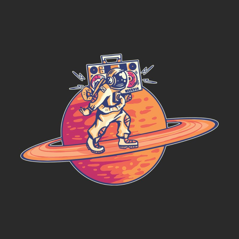 Astronaut Walking The Rings Of Saturn Men's T-Shirt by Toxic Onion - Weird and Funny Stuff