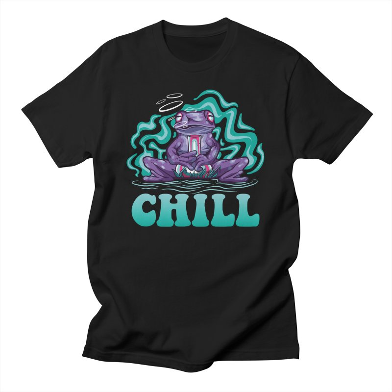 Chill Stoner Frog Men's T-Shirt by Toxic Onion - Weird and Funny Stuff