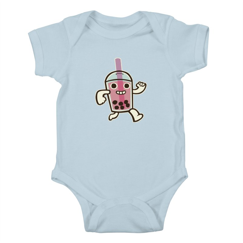 Bubble Tea Time! Kids Baby Bodysuit by toyebot's Artist Shop