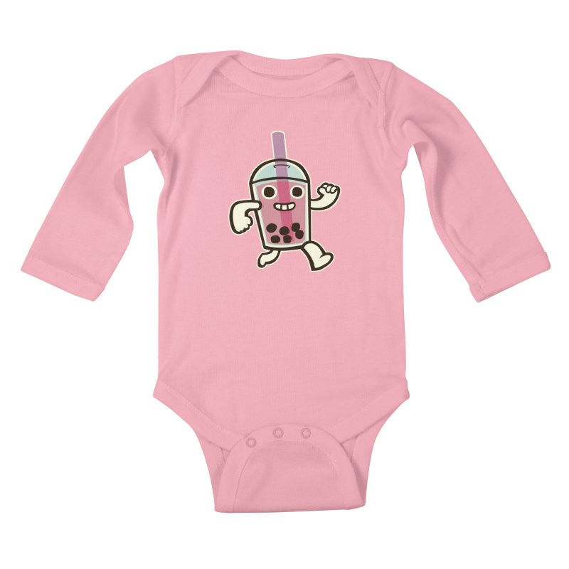 Bubble Tea Time! Kids Baby Longsleeve Bodysuit by toyebot's Artist Shop