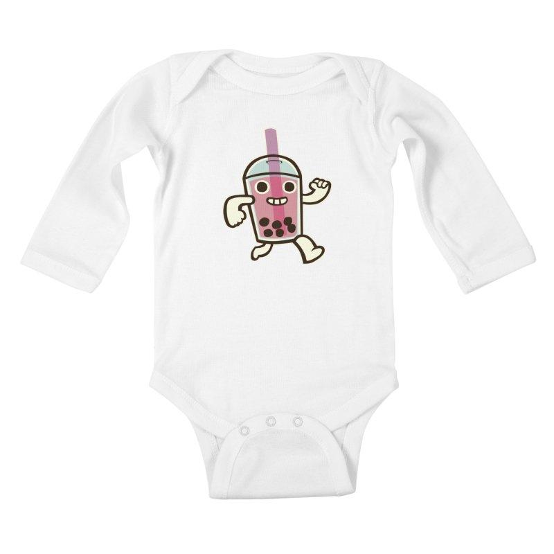 Bubble Tea Time! Kids Baby Longsleeve Bodysuit by toyebot's Artist Shop