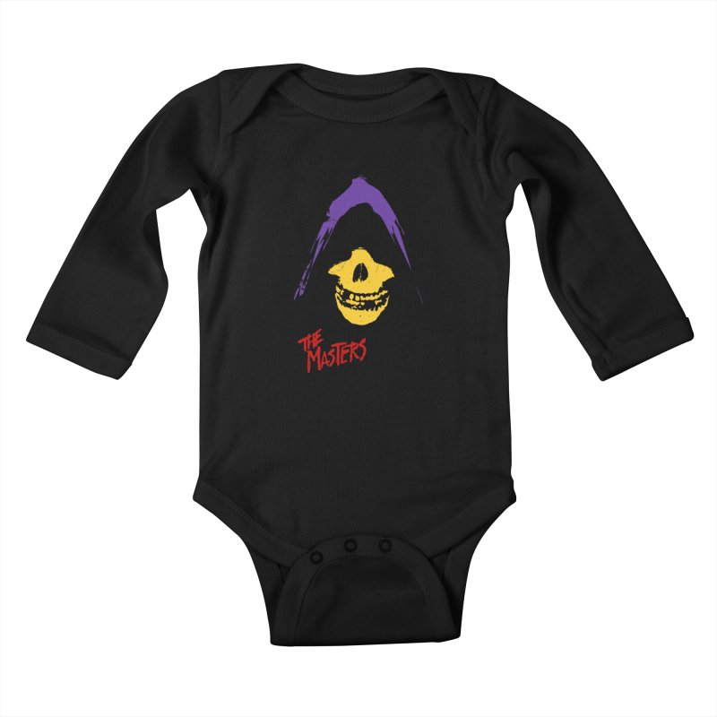 Skeletor's Fiend Club Kids Baby Longsleeve Bodysuit by ToySkull