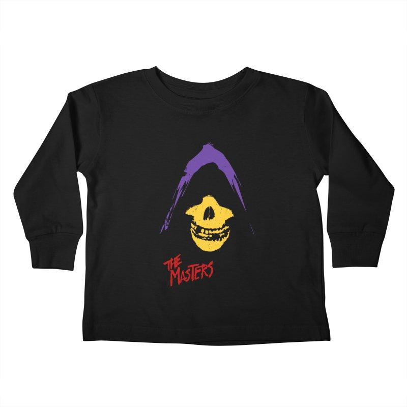 Skeletor's Fiend Club Kids Toddler Longsleeve T-Shirt by ToySkull