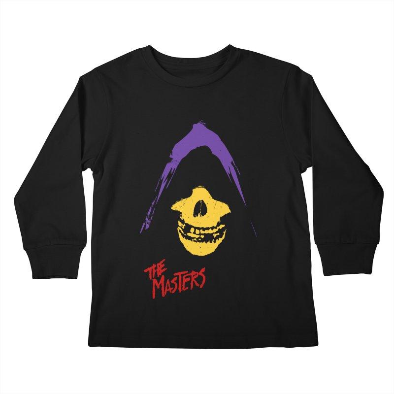 Skeletor's Fiend Club Kids Longsleeve T-Shirt by ToySkull