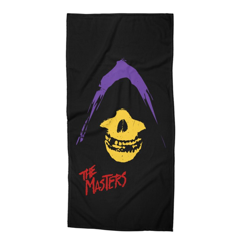 Skeletor's Fiend Club Accessories Beach Towel by ToySkull