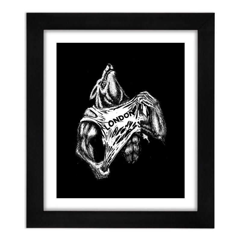 American Werewolf in London Home Framed Fine Art Print by ToySkull