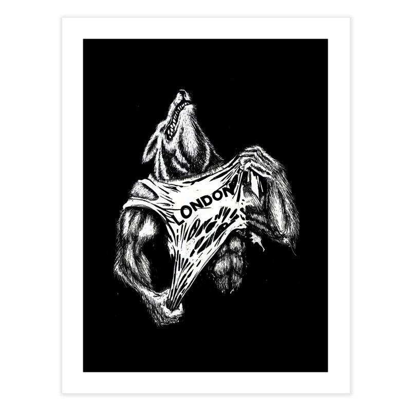 American Werewolf in London Home Fine Art Print by ToySkull