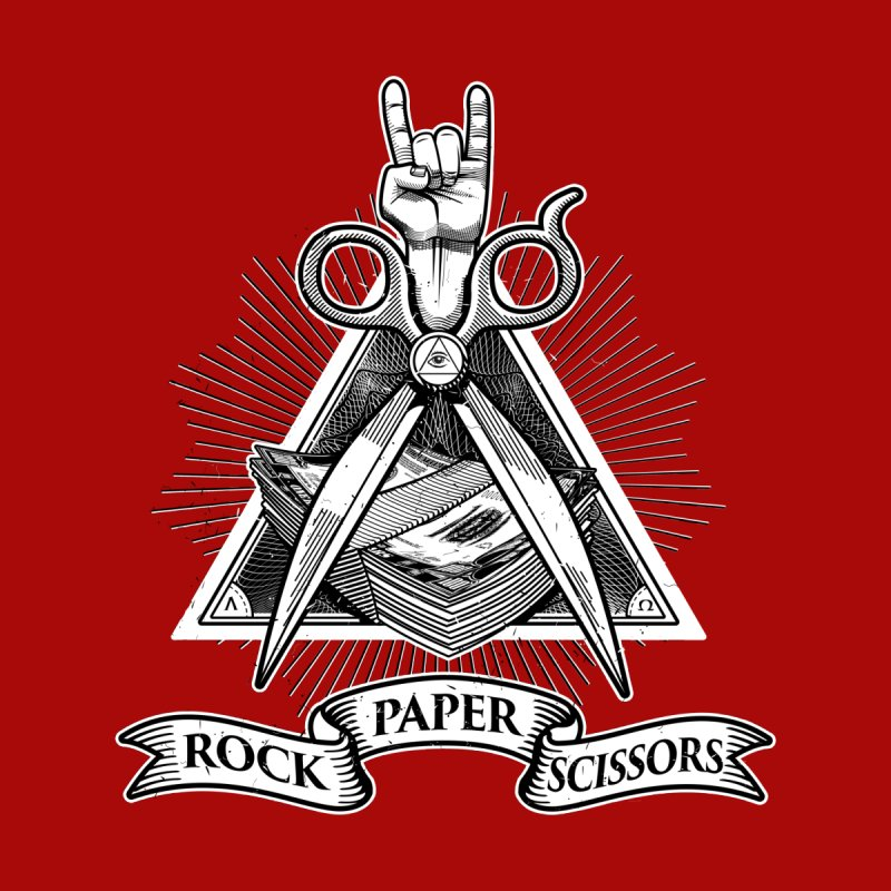 Rock Paper Scissors Men's T-Shirt by ToySkull