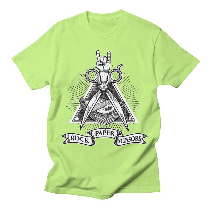 Rock Paper Scissors Men's T-Shirt by ToySkull