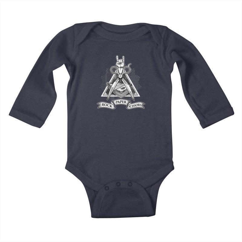 Rock Paper Scissors Kids Baby Longsleeve Bodysuit by ToySkull