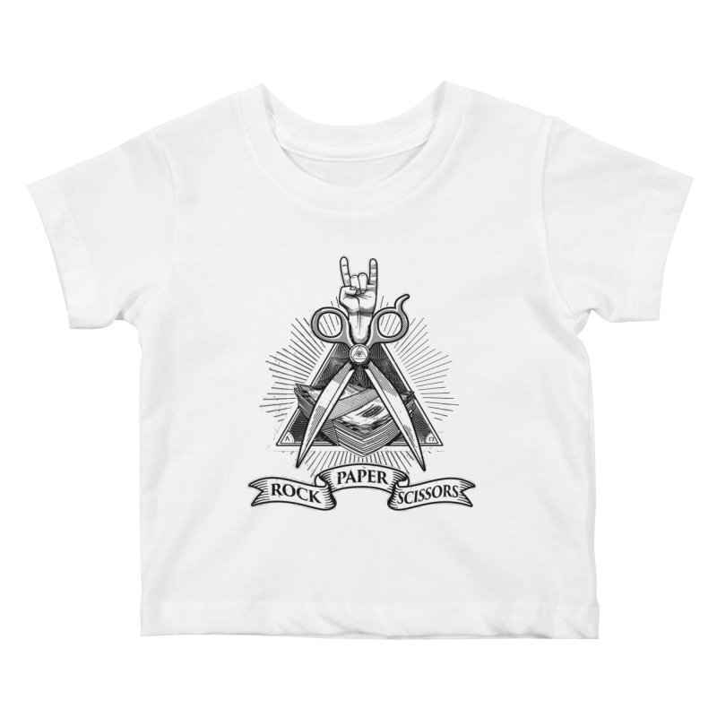 Rock Paper Scissors Kids Baby T-Shirt by ToySkull