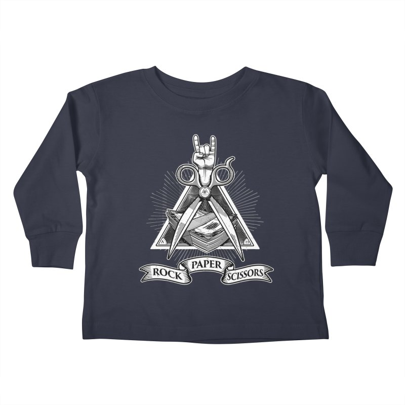 Rock Paper Scissors Kids Toddler Longsleeve T-Shirt by ToySkull