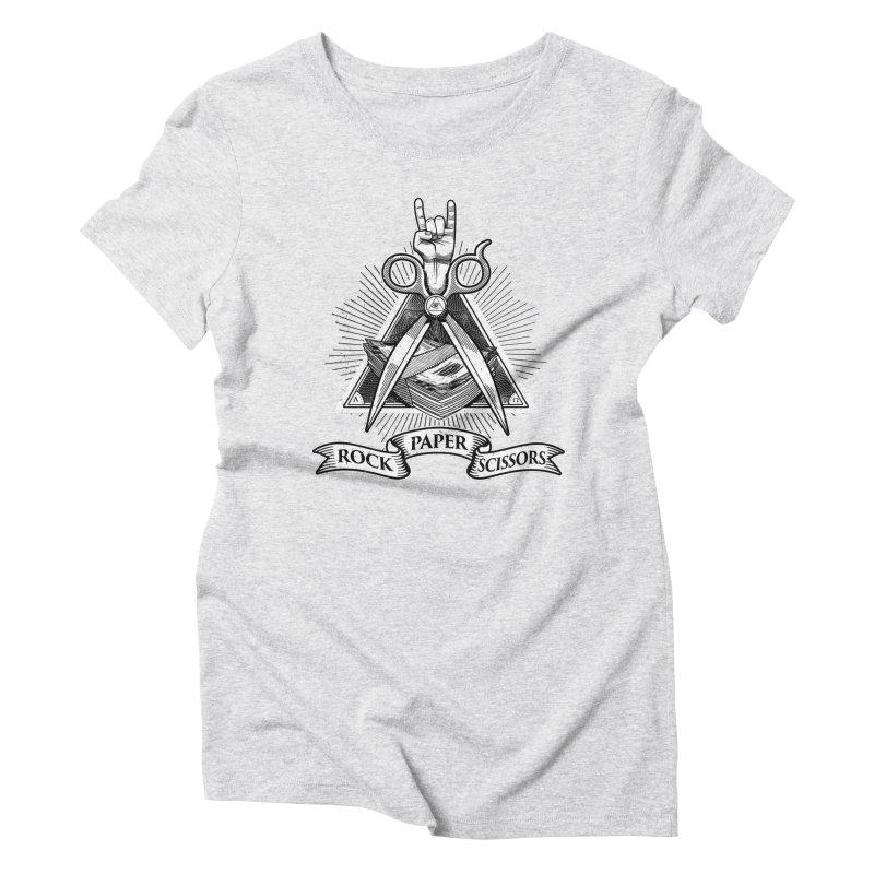 Rock Paper Scissors Women's T-Shirt by ToySkull