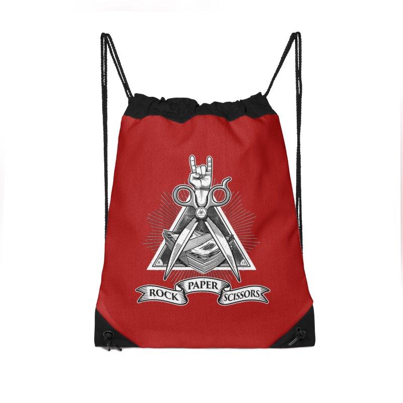Rock Paper Scissors Accessories Bag by ToySkull