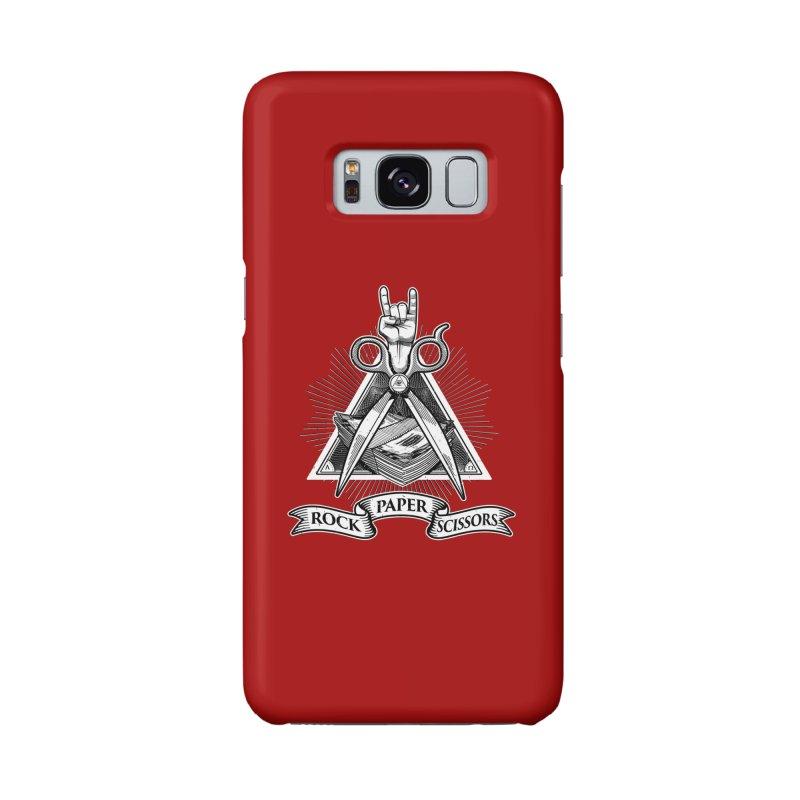 Rock Paper Scissors Accessories Phone Case by ToySkull