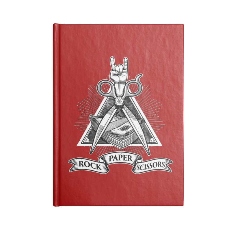 Rock Paper Scissors Accessories Notebook by ToySkull