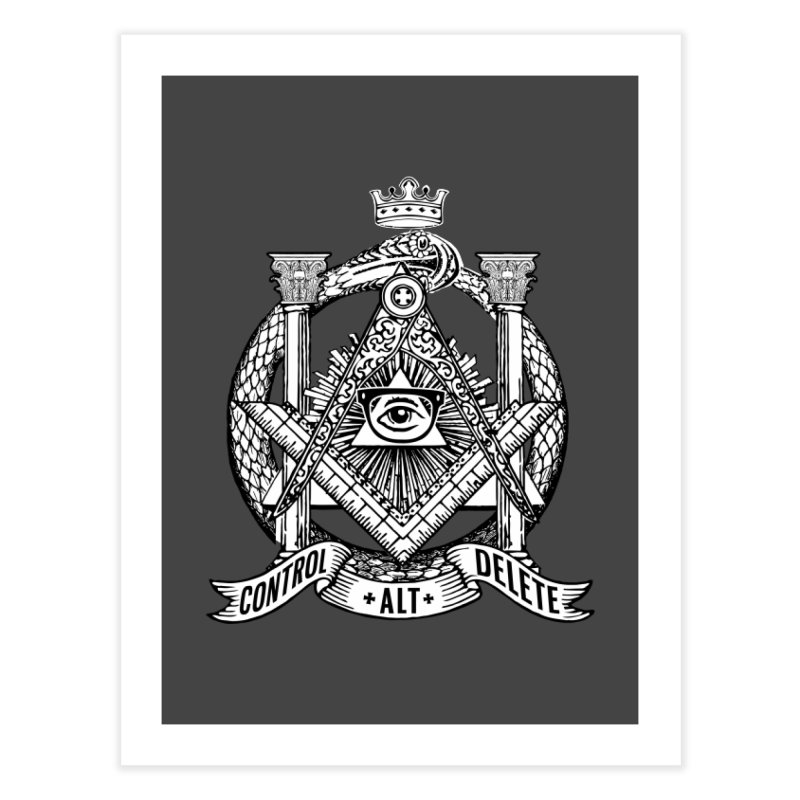 Secret Society Home Fine Art Print by ToySkull