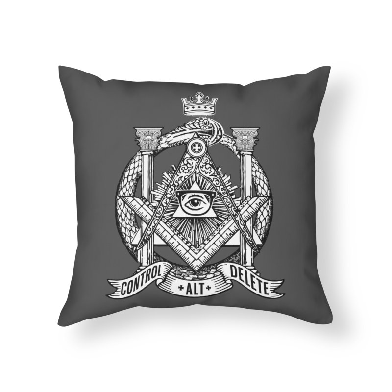 Secret Society Home Throw Pillow by ToySkull