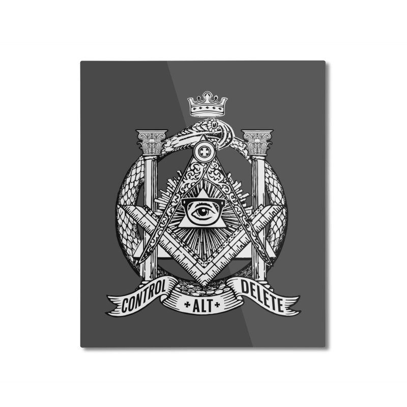 Secret Society Home Mounted Aluminum Print by ToySkull