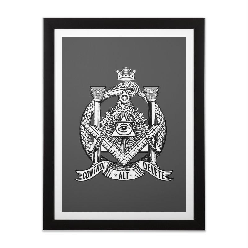 Secret Society Home Framed Fine Art Print by ToySkull