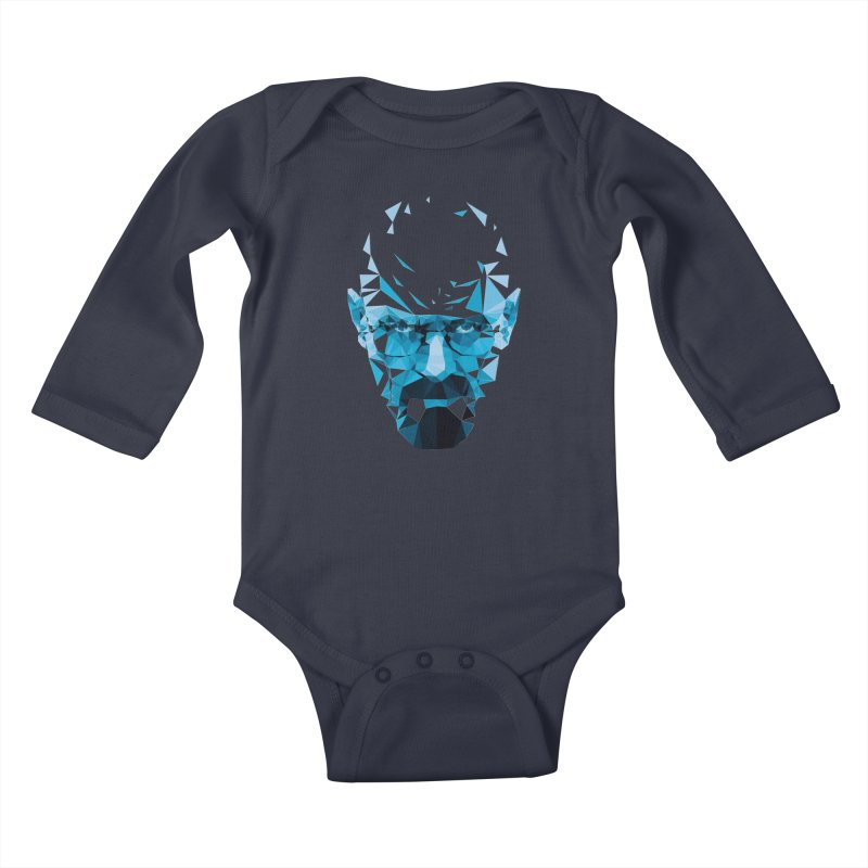 Mr. White's Blue Kids Baby Longsleeve Bodysuit by ToySkull