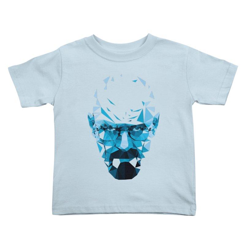 Mr. White's Blue Kids Toddler T-Shirt by ToySkull