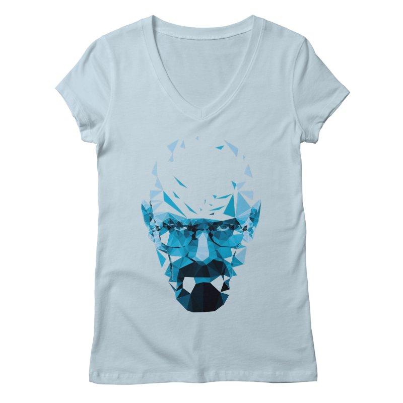 Mr. White's Blue Women's V-Neck by ToySkull