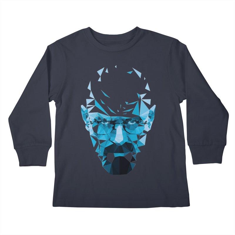 Mr. White's Blue Kids Longsleeve T-Shirt by ToySkull