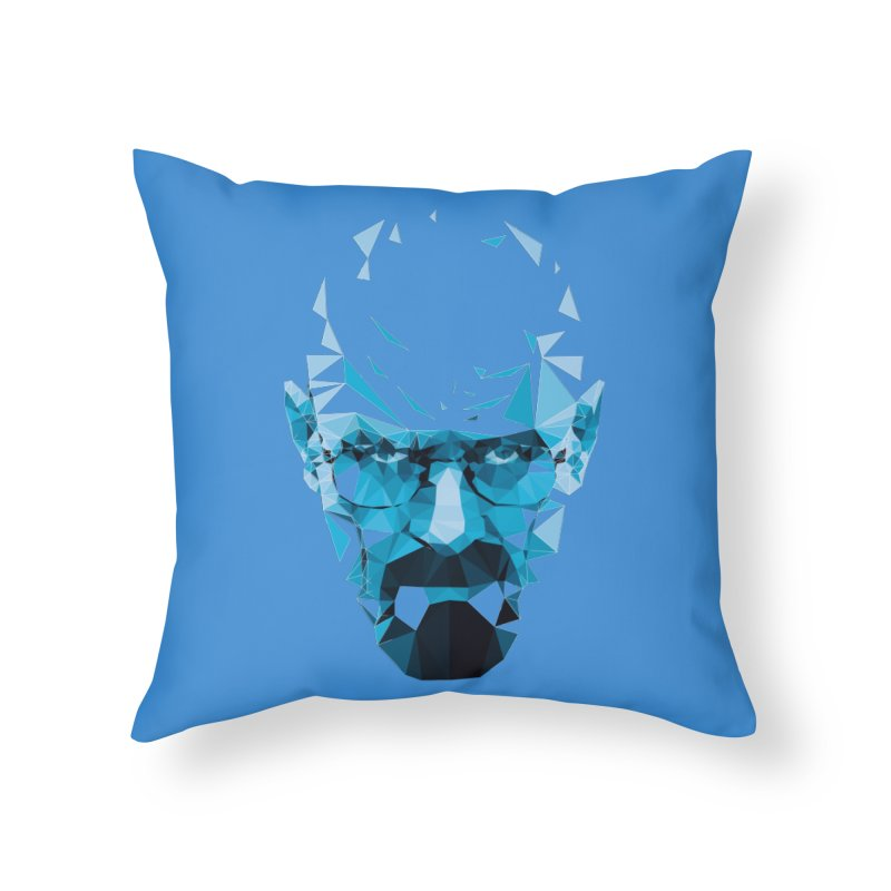 Mr. White's Blue Home Throw Pillow by ToySkull